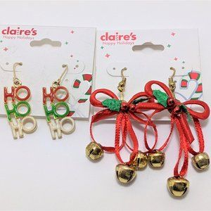 Claire's Holiday earrings